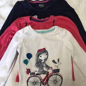 3 Gymboree long sleeve toddler shirts